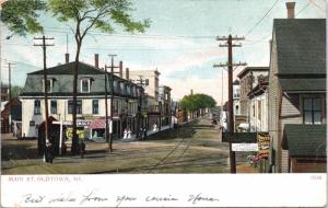 Oldtown ME Main Street Boots & Shoes Thomas Murphy c1906 Postcard E31