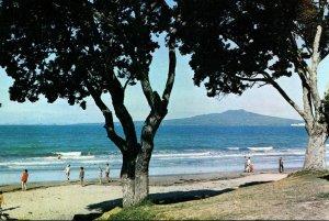 New Zealand Auckland Rangitoto Island From Takapuna Beach