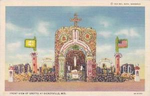 Wisconsin Dickeyville Front VIew Of Grotto Curteich
