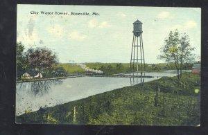 GOONVILLE MISSOURI CITY WATER TOWER MARSHALL MO. VINTAGE POSTCARD 1914