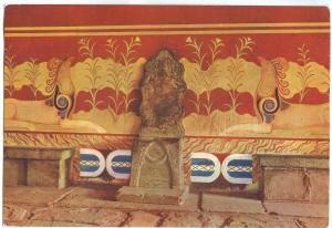 Greece, Cnossos, Knossos, The Throne of Minos unused Postcard