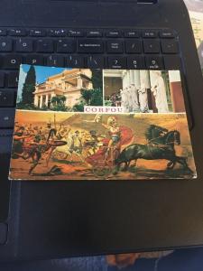 Vintage Postcard: Greece, Courfou - Multi view