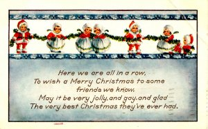 Greeting - Christmas. (crease)