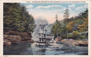 Wisconsin Excursion Steamer In The Narrows Dells Of The Wisconsin River