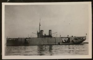 Mint RPPC Postcard Italy Navy Regia Marina seaplane carrier Ship Miraglia