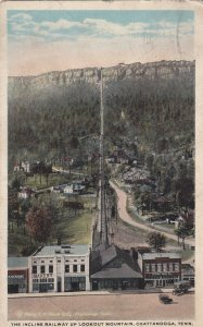 CHATTANOOGA Tennessee, PU-1918; The Incline Railway Up Lookout Mountain