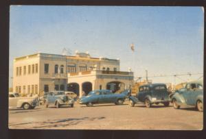 TIAJUANA MEXICO CUSTOMS IMMIGRATION BUILODING 1940's CARS VINTAGE POSTCARD