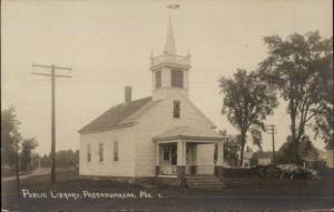 Passadumkeag ME Library c1910 Real Photo Postcard
