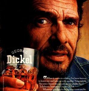 1988 Merle Haggard George Dickle Print Ad