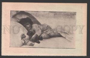 3116360 Girl & TEDDY BEAR DOLL By GUTMANN vintage RUSSIAN RARE