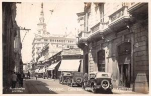 Rosario Argentina Calle Sarmiento English Pharmacy Real Photo Postcard J79367