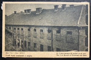 Mint Poland Postcard RPPC Concentration Camp KZ Auschwitz 11th Barrack Of Death
