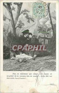 Old Postcard No lunch will not Enconre I need Griser from thy pats far only W...