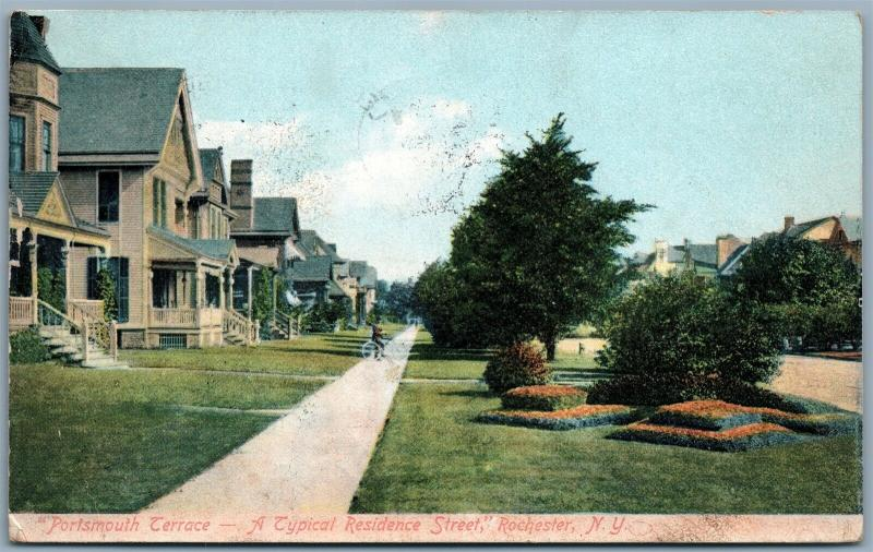 ROCHESTER NY PORTSMOUTH TERRACE 1908 ANTIQUE POSTCARD