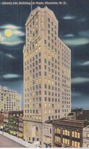 North Carolina Charlotte Liberty Life Building At Night
