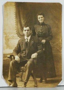 RPPC Susan Lapole & Man c1915 Hagerstown Md Postcard K2