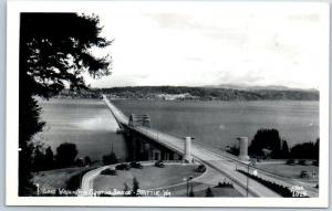 Seattle, WA RPPC Photo Postcard Lake Washington Floating Bridge ELLIS #1015