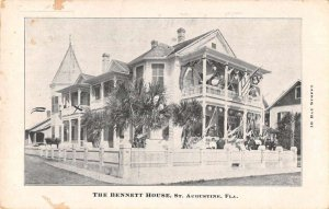 St Augustine Florida The Bennett House Vintage Postcard AA22380