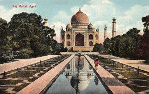 India Taj Mahal Agra Front view Towers Postcard