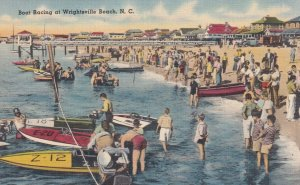 WRIGHTSVILLE BEACH, NC, 1930-40s; Boat Racing