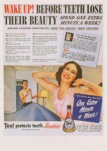 Teel Teeth Dentist Mouthwash Smile Glamour Advertising Postcard