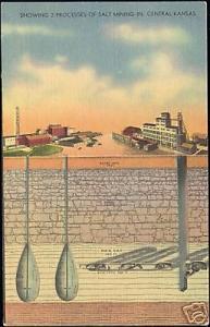 Kansas, Two Processes of Salt Mining (1950s)