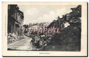 Old Postcard Verdun Bombard