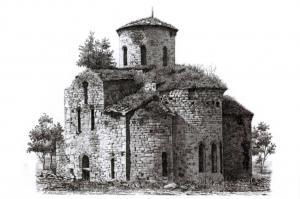 Art Sketch Postcard, Central Zelenchuk Church, Russia 5J