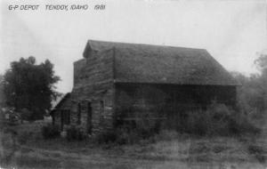 Tendoy Idaho GP Railroad Depot Real Photo Vintage Postcard K98199
