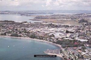 Takapuna Beach New Zealand Postcard