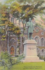 New York Elmira Thomas K Beecher Memorial And Park Church