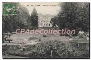 Postcard Old Vulaines Chateau Des Brulys