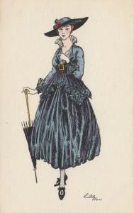 ART DECO ; EDY (Paris) ; Female Fashion portrait #3, 1916