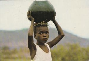 Child with pot on head, Zimbabwe 1981