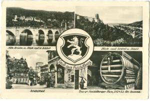 Germany, Gruss aus Heidelberg, multi view, unused Postcard