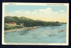 Lake George, New York/NY Postcard, Fort William Henry Hotel & Pergola