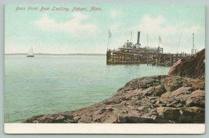 Nahant Massachusetts~Bass Point Boat Landing~Excursion Steamer from Rocks~1905