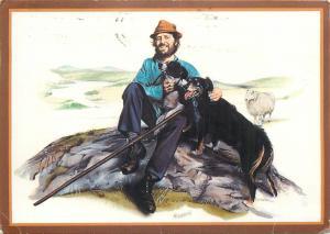 The Shepherd by Malcolm Greensmith postcard