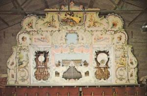 Hooghuys Antique Organ at Fakenham Norfolk Thursford Farm Exhibit 1970s Postcard