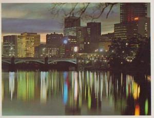Melbourne Skyline Reflections In Yarra River Victoria Australia Postcard