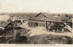 RP: French River Bungalow Camp , Ontario ,1910s ; Main Clubhouse