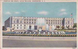 Fountain and Senate Office Building Washington D C