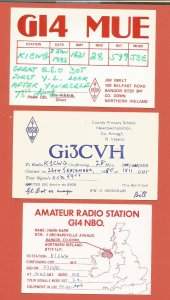 QSL AMATEUR RADIO CARDS – NORTHERN IRELAND – 3 DIFFERENT – 1980-1982 (4)