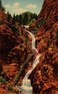 Colorado Pikes Peak Region South Cheyenne Canon Seven Falls Curteich
