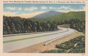 Pennsylvania Burnt Cabins Scenic View Showing The Turnpike Skirting Around Th...