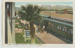 NEEDLES CA rr railroad Train Station Fred Harvey Postcard
