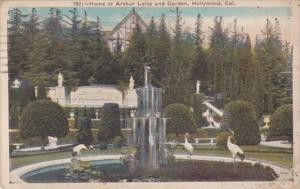 California Hollywood Home Of Arthur Letts and Garden 1923