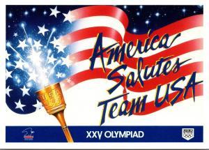 America Salutes Team USA XXV Olympiad Barcelona Spain