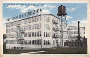 Springvale Maine~Sears Roebuck Shoe Factories No 4~Water Tower~1916 Postcard