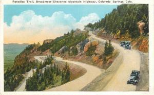Autos Broadmoor Hwy C-1915 Colorado Springs Colorado Paradise Trail Puffer 10812